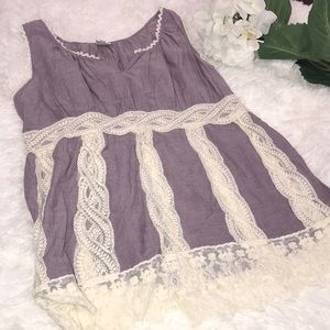 ANTHRO Victorian Lace Tank Top